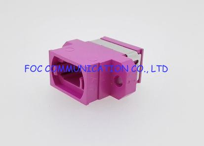 OM4 Full Flange Compact MPO Multimode Optical Cord Adapter 0.2dB / 0.3dB
