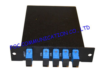 1*4 Fiber PLC Splitter LGX Type Rack Mount With SC / UPC Connector Low Insertion