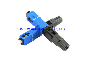 Pre - Embedded Durable FTTH Quick Fiber Optic Connector SC UPC